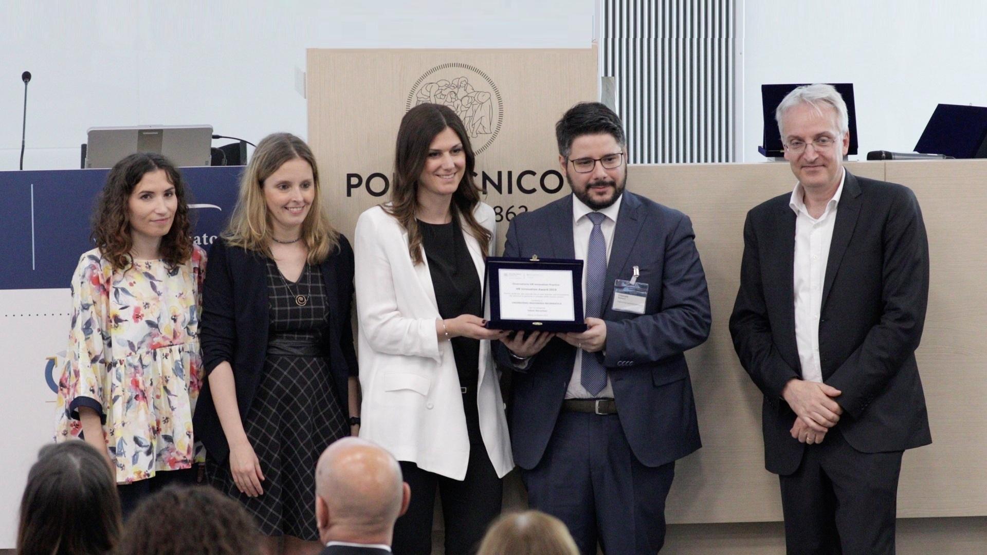 A Engineering l'HR Innovation Award dell'Osservatorio HR Innovation Practice del Politecnico di Milano